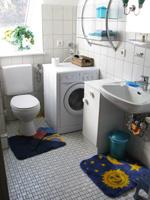 Bad mit Waschmaschine